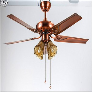 LED fan lights living room European-style 48-inch iron leaf fan light 5 lights Honggu Ceiling Fans  Rmy-0222