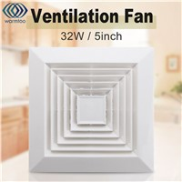 1Pcs White 32W 220V Ventilation Extractor Exhaust Fan Blower Window Wall Kitchen Bathroom Toilet Fan Hole Size 160x160mm US Plug
