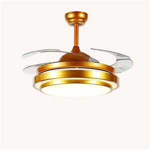 Modern Simple Mute Invisible Led Ceiling Fans Light for living room Dining Room Bedroom Restaurant 36/42 inches 1580