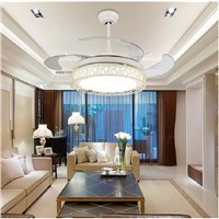 Ceiling fans lamp  42 inch LED remote control ceiling fan light Used for bedroom living room lamp 85-265V