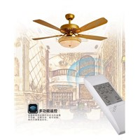 Luxury decorative fan light ceiling LED with remote control ceiling fan 52inch leaf ceiling fan light golden color