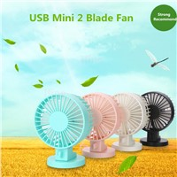 2016 Office Summer Portable Handheld Mini Usb Fan 2 Blades Handhold  Fans Electric Cooler Air Condition