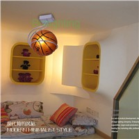 kids lamp surface mounted creative cartoon Children Ceiling lamps Kids Bedroom Cartoon lights Bedroom Ceiling Lamps basketball