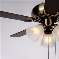 Retro ceiling fan light (brown)