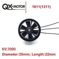 QX-MOTOR 1pcs Ducted 30mm/55mm/64mm/70mm/90mm EDF Kit with Fan Rotor+Ducted Housing+Adapter+Brushless Motor For UAV RC Airplane