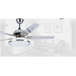 48inch Modern minimalist Ceiling fan dining room fan ceiling fan light living room fashion LED light smart remote control fans