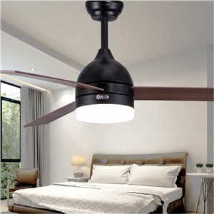 Nordic Brown Vintage DC Ceiling Fan With Lights Remote Control Ventilador De Techo  Fan LED Light Bulbs Bedroom Fan Lamp