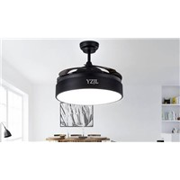 With remote control fan chandelier fan lights modern minimalist living room dining room bedroom LED fan chandeliers