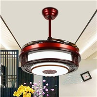 Ceiling Fans lamp LED 42 108cm INCH Frequency conversion motor wood Traditional ceiling fan light dimmer Remote control 85-265V