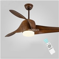 New 52 Inch Variable Frequency  LED Ceiling Fan Light with Remote Control For Modern Fashion European Living Room110-240V 15-75W