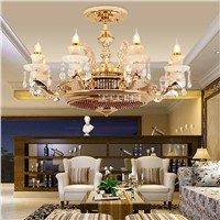 New Arrival HJ-510 220v 20W Ceiling Fan Living Room Restaurant Study Silent Fan Light  With Remote Control