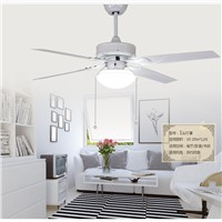 LED illuminated ceiling fan light minimalism modern fan lamp ceiling fan restaurant white lamps fan with remote control