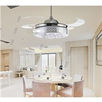 ABS LED fan lights ceiling fan lamp light flexible modern minimalist fan ceiling lamps bedroom living room remote control