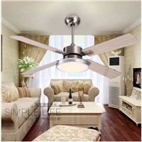 Fan lamp chandelier simple fashion LED chandelier restaurant 52inch chandelier fan lights Fan chandelier with remote control