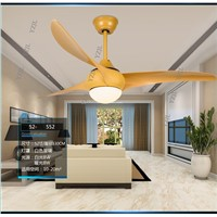 Simple fashion LED remote control ceiling fans ceiling fan light indoor mute fan light ceiling with remote control 52inch