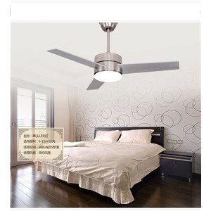 LED ceiling fan light 3 wooden leaf European fan light ceiling fan minimalism modern ceiling fan with remote control 48inch