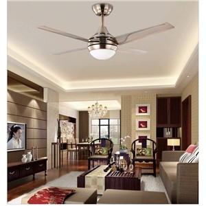 Modern minimalist LED fan lights 44inch iron leaf fan light ceiling bedroom ceiling fan lights with smart remote control