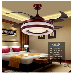 Chinese chandelier fan dining room living room-bedroom fan light 110~240V chandelier fans with remote control vintage
