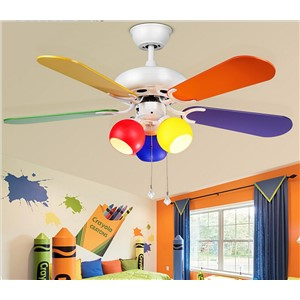 American fashion loft led ceiling fan light led fan light for Children room dining room living room fan lamp with E27 220V