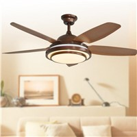 Retro decorative ceiling LED Ceiling Fan With Lights Remote Control  110-240 Volt Fan Light Bulbs Bedroom Fan Lamp Free Shipping