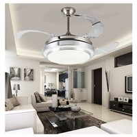 LED Ceiling Fan With Lights Remote Control 110-240Volt Fan LED Light Bulbs Bedroom Fan Lamp Free Shipping