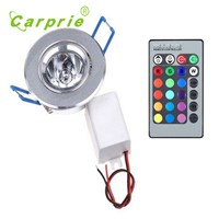 Carprie 3W RGB 16 Colors Changing LED Ceiling Recessed Lamp Bulb Spotlight l70406 DROP SHIP
