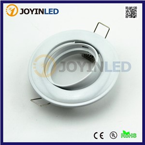 10 set White Round led lamp Frame fixture Fittings including 4W GU10/MR16 DC12V Spot Down light