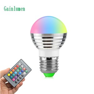 1Pcs Lovely 16 Colors RGB Christmas Decor Atmosphere LED Night light E27 5W 110V - 220V LED lamp Spotlight Bulb + IR Remote