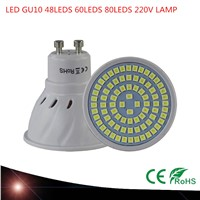 Super Bright GU10 LED Spotlight 48LEDS 60LEDS 80LEDS 220V 230V Led Lamp GU 10 Lampada LED Bulb Energy Saving Home Lighitng