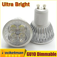 1pcs Super Bright 15W 12W 9W GU10 LED Bulbs Light 110V 220V Dimmable Led Spotlights Warm/Cool White GU 10 base LED downlight