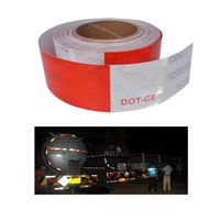 5cmX50m Red and White - DOT-C2 Conspiciuity Tape - COMMERCIAL ROLL  Auto Car/Truck/Trailer/Boat