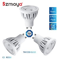 LED GU10 Bulbs 7W 630lm 3000k warm white 24degree Dimmable kitchen sink lighting Aluminum 75W Halogen Bulbs Equivalent 3-Pack