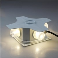 Outdoor Wallmount Spotlight with 4 LED Shot Beams, Waterproof Visual Effect Lights with Die-Casting Aluminum Body