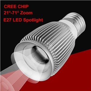 New Zoom 3W Led Spot Light Cob Cree Chip E27 Spot Led Spotlight 3000K 6000K Bulb Lamp Museum Cabinets Lighting 110V 220V