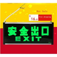 Plug-in electricity style Corridor fire emergency light LED safety export indicator sign vacuation passageway marker light
