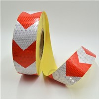 5cmx3m Shining Reflective Warning Self-Adhesive Stikcer with Red White Color Arrow Printing for Car