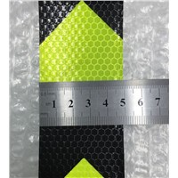 5CM x 5M Fluorescent yellow arrow PET Reflective Tape Reflective Safety Warning Tape for car