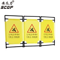 A6 Folding Cloth Advertising Barrier Plastic Traffic Barriers Fence Foldable Oxford Fencing Road Crowded Safety Warning Signs