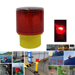 WDM Solar Powered Easy Installment Pier Jetty Warning Flashing Beacon Strobe  Light