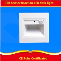 2pcs/lot 0.6W PIR Sensor led stair light ,IR and light reaction led footlight for corridor,stairs,passway