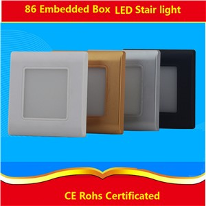 2pcs/lot 0.6W /2.5W  led stair light ,Night Lamp withcover, led footlight for corridor,stairs,passway,bathroom