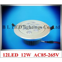 LED recessed ceiling spot light lamp 12W LED down light LED ceiling light 12W AC85-265V free shipping