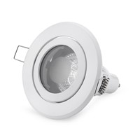 4W GU10/MR16 spot light Trim Rings Round Fitting Frost White Zinc Alloy Glass Casing Lamp Frame