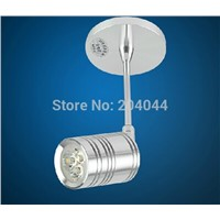 2015 Promotion Aluminum Led Bulbs Knob Switch New lamp 12pcs/lot 3w Led With Lens  Cree Bulb Downlight Lighting