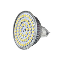 6pcs Spotlight Spot LED Light Bulb Cabinet Lamp W power DC12V MR16 base SMD 3528 chip 2 color Glass Mini Led light VR