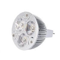 3W 12-24V MR16 Warm White 3 LED Light Spotlight Lamp Bulb only