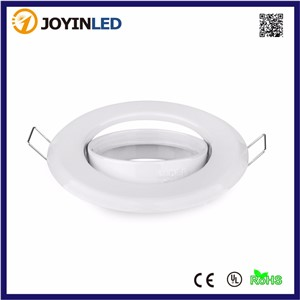 10pcs/lot Cheaper sale 4W GU10 Spot light with White Round Frame fixture trim rings