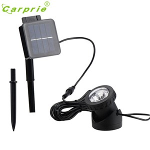 CARPRIE Solar Powered LED Spotlight Light Garden Pool Pond Outdoor Submersible White l70322 DROP SHIP