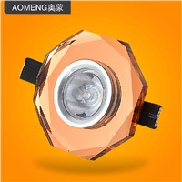 Led  1w ceiling light crystal lighting wall lights kitchen cabinet wardrobe decoration