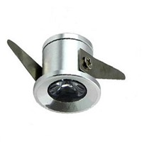 1W Miniature Led Recessed  Ceiling Spotlight Silver/Black/White Color  For Ceiling Cabinet Closet